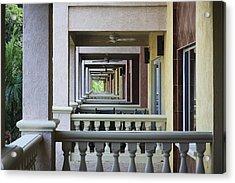 View Through Balconys Acrylic Print