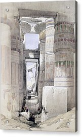 View Through The Hall Of Columns Acrylic Print by David Roberts