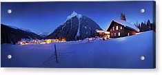 View To Gargellen At Night, Montafon Acrylic Print