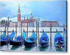 View To San Giorgio Maggiore Acrylic Print by Heiko Koehrer-Wagner