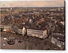 View To The East In Maastricht Acrylic Print by Nop Briex