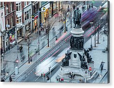Viewpoint Over Oconnell Street, Dublin Acrylic Print by David Soanes Photography