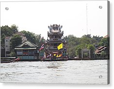 Views From A River Boat Taxi In Bangkok Thailand - 011319 Acrylic Print by DC Photographer