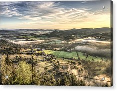 Views From Balsareny Castle In Catalonia Acrylic Print