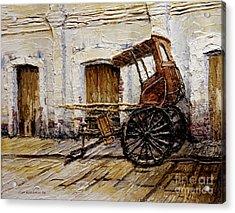 Vigan Carriage 1 Acrylic Print by Joey Agbayani