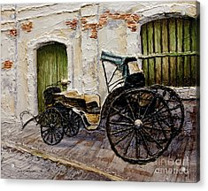 Acrylic Print featuring the painting Vigan Carriage 2 by Joey Agbayani
