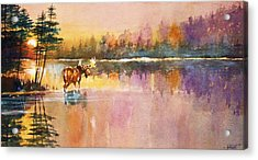 Acrylic Print featuring the painting Vigil In The Shallows by Al Brown