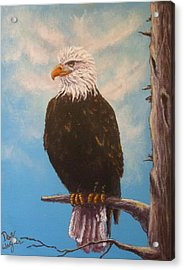 Vigilant Eagle Acrylic Print by Dan Wagner