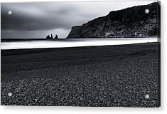 Vik And The Black Sand Acrylic Print