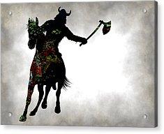 Viking Warrior On Horseback Acrylic Print
