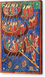 Vikings Invade England 9th Century Acrylic Print by Photo Researchers