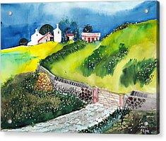 Villa Acrylic Print by Anil Nene