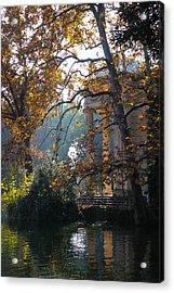 Villa Borghese Park Acrylic Print by Glenn DiPaola
