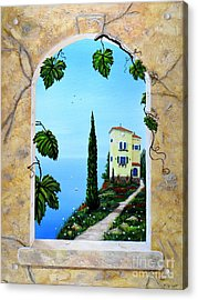 Villa By The Sea Acrylic Print