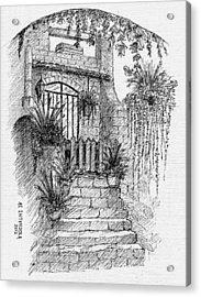 Villa Doorway Acrylic Print