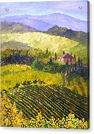 Villa Toscana Acrylic Print