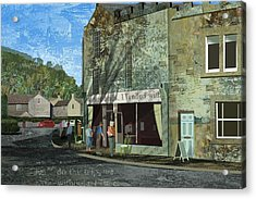 Village Cafe Acrylic Print by Kenneth North