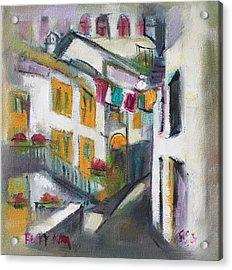Village Corner Acrylic Print by Becky Kim