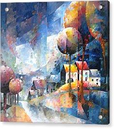 Village De Wallonie Acrylic Print