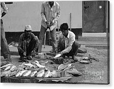 Village Fish Market 1 Acrylic Print by Bobby Mandal