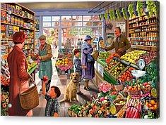 Village Greengrocer  Acrylic Print by Steve Crisp