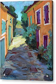 Village In Provence Acrylic Print by Diane McClary