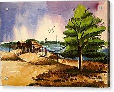 Village Landscape Of Bangladesh 2 Acrylic Print by Shakhenabat Kasana