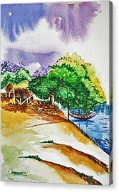 Village Landscape Of Bangladesh 3 Acrylic Print by Shakhenabat Kasana