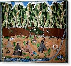 Village Life Acrylic Print by Linda Egland