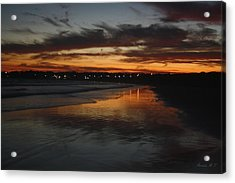 Village Lights At Sunset Acrylic Print