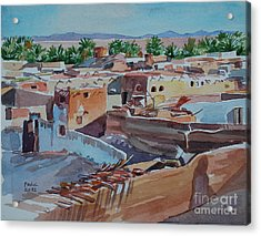 Village Acrylic Print by Mohamed Fadul
