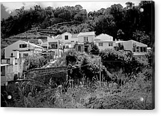 Village Nestled In The Hills  Acrylic Print