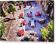 Village Of Chios Acrylic Print