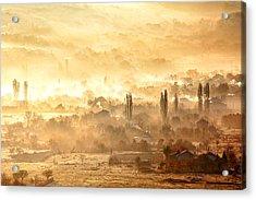 Village Of Gold Acrylic Print by Evgeni Dinev