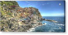 Village Of Manarola Acrylic Print by Alex Dudley