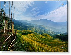 Acrylic Print featuring the photograph Village Of Mist 11 by Afrison Ma