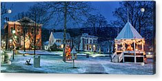 Village Of New Milford - Winter Panoramic Acrylic Print