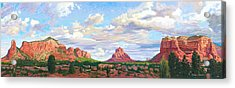 Village Of Oak Creek - Sedona Acrylic Print by Steve Simon