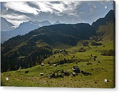 Village Of Spielbodenalp Switzerland Acrylic Print