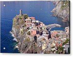 village of Vernazza Acrylic Print by Ioan Panaite