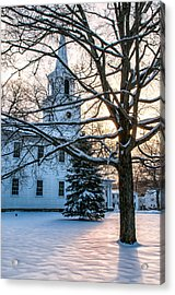 Village Of Washington Depot - Connecticut Acrylic Print by Thomas Schoeller