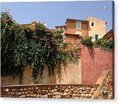 Village Vista Roussillon France Acrylic Print by Pema Hou