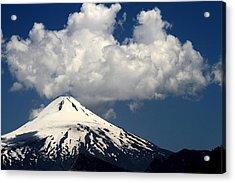 Villarrica Volcano Acrylic Print by Arie Arik Chen
