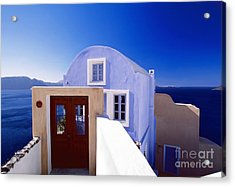 Villas Overlooking The Aegean Sea Acrylic Print