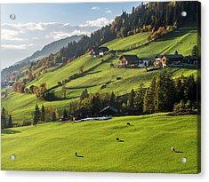 Villnoess Valley (val De Funes Acrylic Print by Martin Zwick