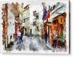 Vilnius Old Street Walk 1 Acrylic Print