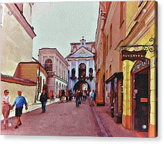 Vilnius Old Town 13 Acrylic Print by Yury Malkov
