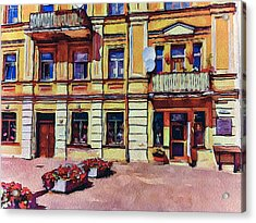 Vilnius Old Town Architecture Acrylic Print by Yury Malkov