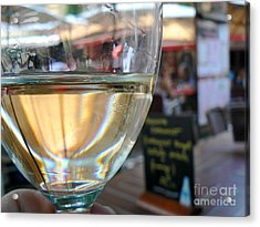 Vin Blanc Acrylic Print by France  Art