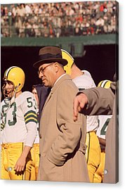 Vince Lombardi In Trench Coat Acrylic Print by Retro Images Archive